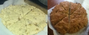 scone before and after
